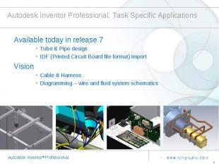 Autodesk Inventor Professional: Task Specific Applications Available today in re