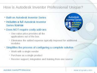 How is Autodesk Inventor Professional Unique? Built on Autodesk Inventor Series