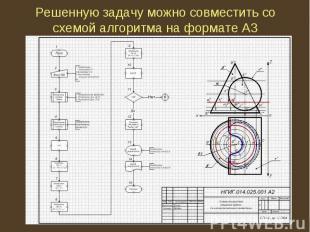 Решенную задачу можно совместить со схемой алгоритма на формате А3
