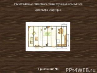 Вычерчивание планов основных функциональных зон интерьера квартиры Приложение №3