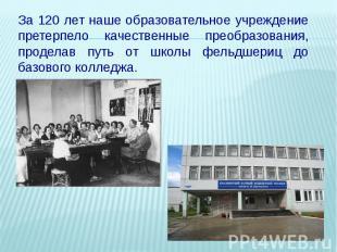 За 120 лет наше образовательное учреждение претерпело качественные преобразовани