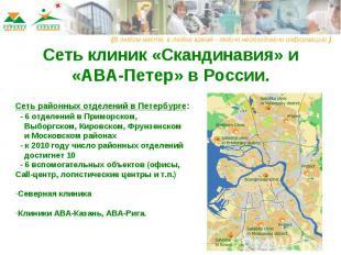 Сеть клиник «Скандинавия» и «АВА-Петер» в России Сеть районных отделений в Петер