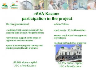 «AVA-Kazan» participation in the project Kazan government: building (3314 square