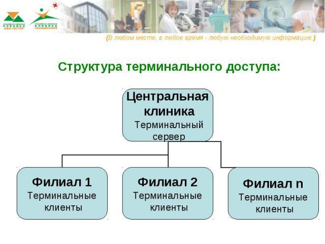 Структура терминального доступа: