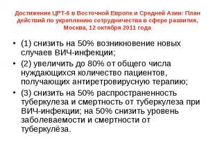 Достижение ЦРТ-6 в Восточной Европе и Cредней Азии: План действий по укреплению