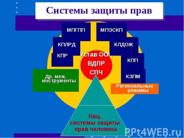 Системы защиты прав