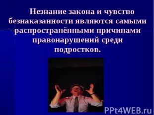 Незнание закона и чувство безнаказанности являются самыми распространёнными прич