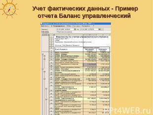 Учет фактических данных - Пример отчета Баланс управленческий