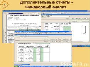 Дополнительные отчеты - Финансовый анализ