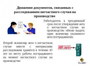 Движение документов, связанных с расследованием несчастного случая на производст