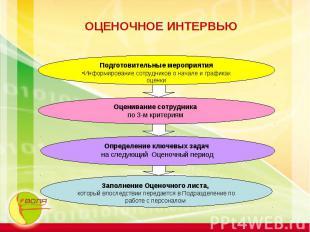 ОЦЕНОЧНОЕ ИНТЕРВЬЮ Подготовительные мероприятияИнформирование сотрудников о нача