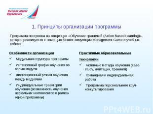 1. Принципы организации программы Программа построена наконцепции «Обучение пра