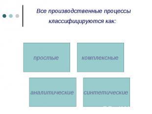 Все производственные процессы классифицируются как: