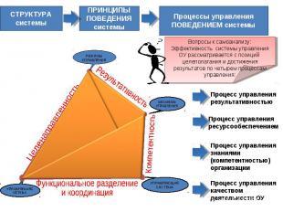 СТРУКТУРА системыПРИНЦИПЫПОВЕДЕНИЯ системыПроцессы управленияПОВЕДЕНИЕМ системыВ