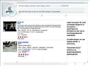 Другой взгляд на роль онлайн-видео в рекламе Сами смотрят! В этой ситуации преро