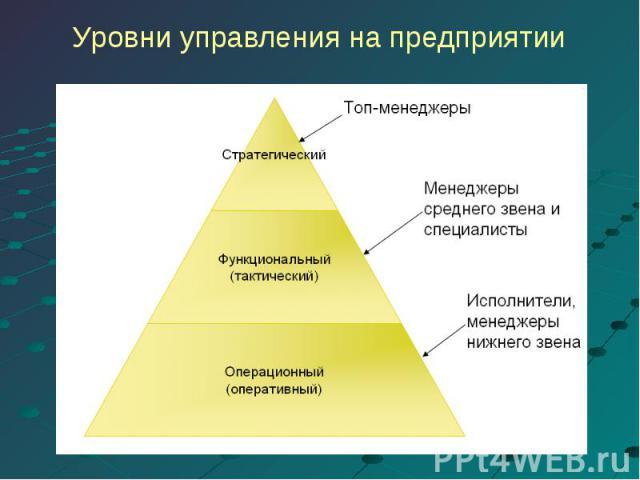 Уровни управления на предприятии