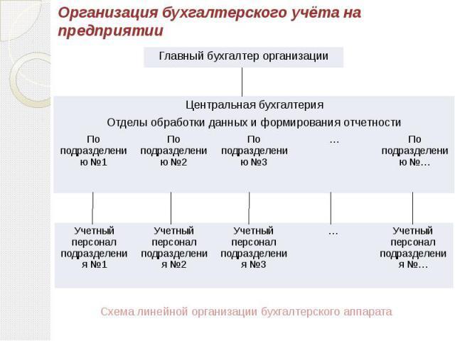 Организация бухгалтерского учёта на предприятии