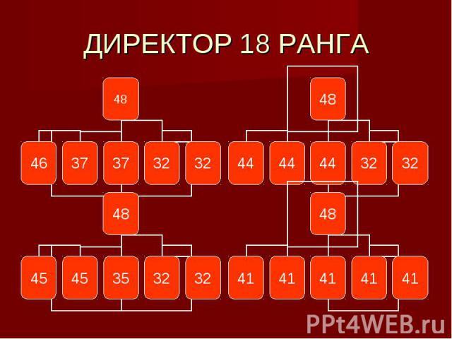 ДИРЕКТОР 18 РАНГА