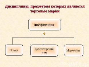 Дисциплины, предметом которых являются торговые марки