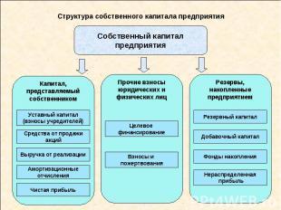 Структура собственного капитала предприятия