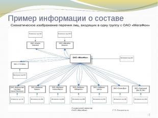 Пример информации о составе группы: на примере ОАО Мегафон
