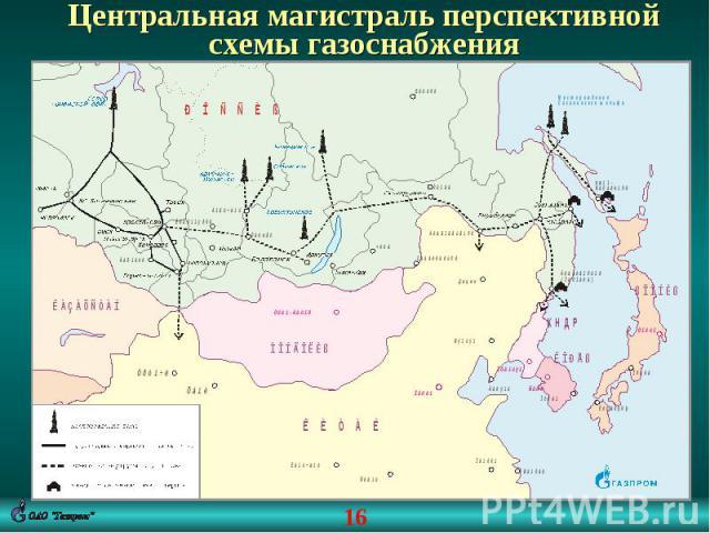 Центральная магистраль перспективной схемы газоснабжения