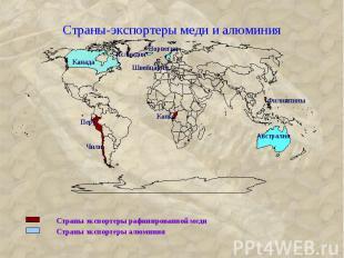 Страны-экспортеры меди и алюминия