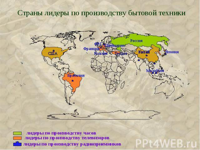 Страны лидеры по производству бытовой техники