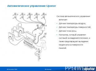 Автоматическое управление Uponor Система автоматического управления включает:Дат