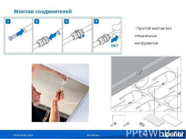 Монтаж соединителей - Простой монтаж без специальных инструментов