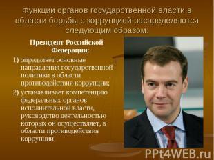 Функции органов государственной власти в области борьбы с коррупцией распределяю