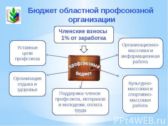 Бюджет областной профсоюзной организации