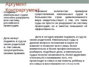 Создание ювенальных судов способно разрушить всю систему российского правосудия.