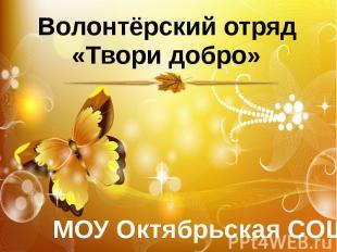 Волонтёрский отряд«Твори добро» МОУ Октябрьская СОШ