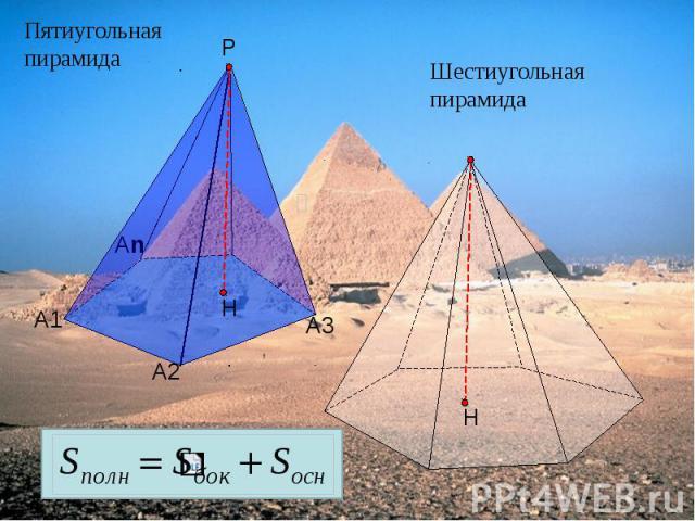 Пятиугольная пирамида Шестиугольная пирамида