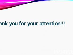 Thank you for your attention!!!Thank you for your attention!!!