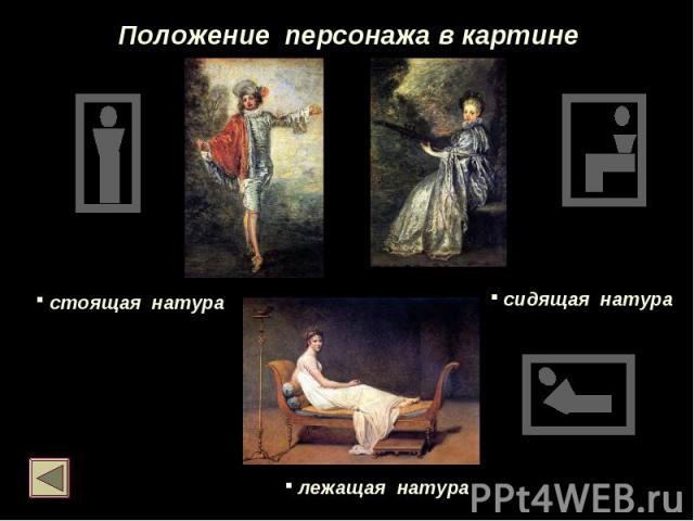 Положение персонажа в картине