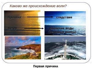 Каково же происхождение волн?