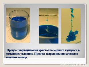 Процесс выращивания кристалла медного купороса в домашних условиях. Процесс выра