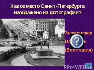 Какое место Санкт-Петербурга изображено на фотографии?