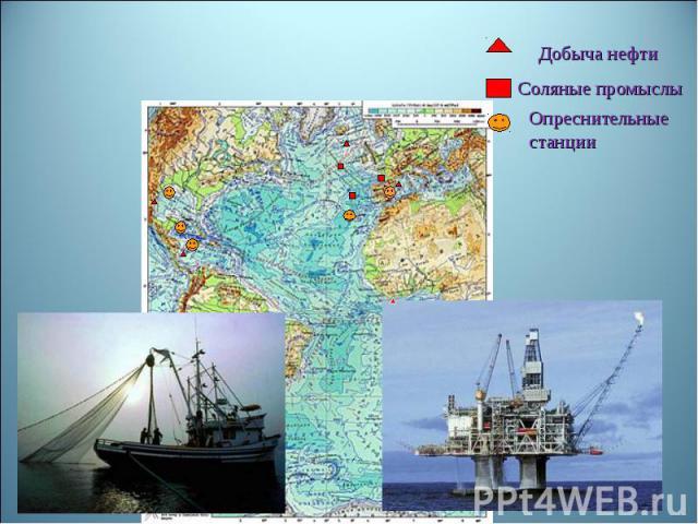 Добыча нефтиСоляные промыслы