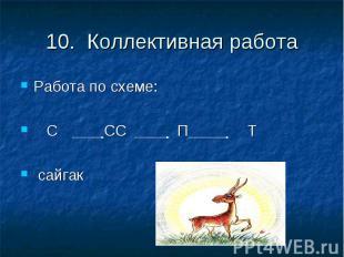 10. Коллективная работаРабота по схеме: С СС П Т сайгак