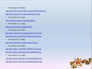 Фотографии (19 слайд)Фотографии (19 слайд)http://files.volfoto.ru/original/2/311