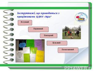 """Інструктажі, що проводяться з працівниками ЦДЮТ «Мрія"""""""