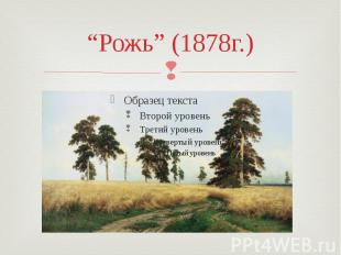 """""""Рожь"""" (1878г.)"""