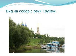 Вид на собор с реки Трубеж