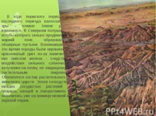 В ходе пермского периода - последнего периода палеозойской эры - климат Земли