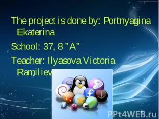 The project is done by: Portnyagina Ekaterina The project is done by: Portnyagin