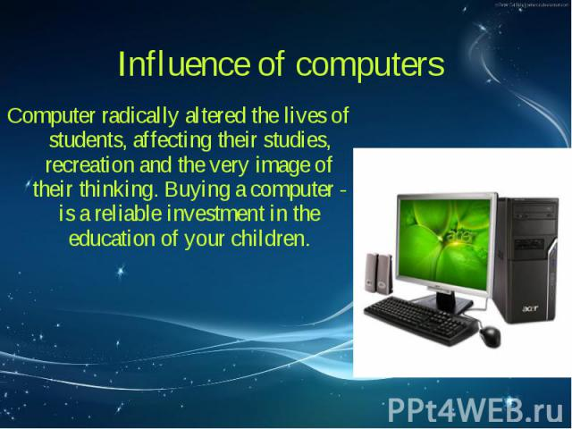 influence of computers