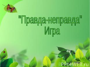 """""""Правда-неправда"""" Игра"""